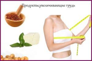 С помощью каких продуктов можно увеличить грудь?
