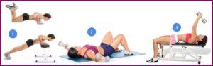 Упражнения для подтяжки грудных мышц для упругости