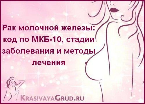 Рак молочной железы код по МКБ-10