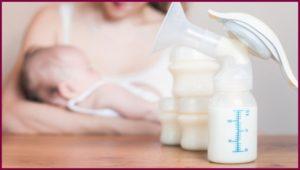 Сцеживание молокоотсосом при закупорке молочного протока